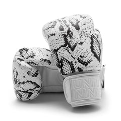 UNIT NINE White Python Boxing Gloves