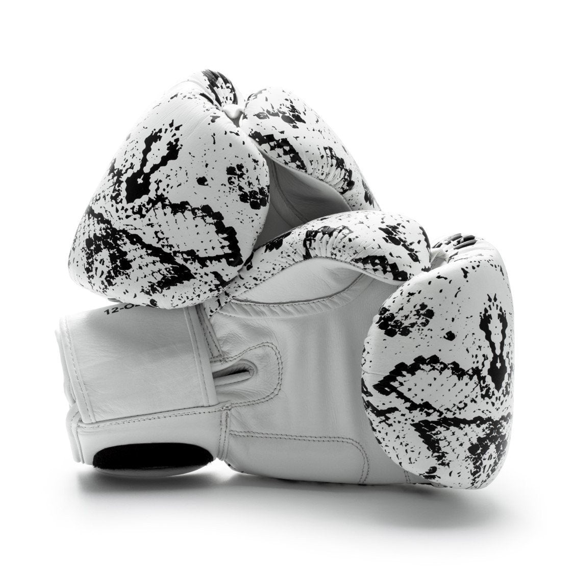 UNIT NINE White Python Boxing Gloves 2