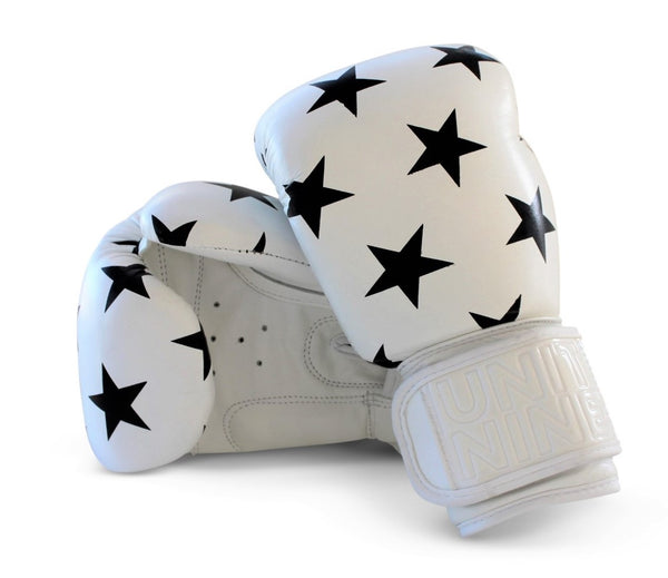 UNIT NINE White Shooting Stars Boxing Gloves