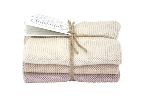 100% Organic Cotton Face Cloths - Pack of 3