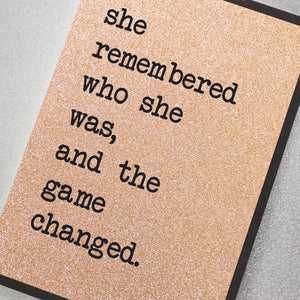 Card - She Remembered Who She Was