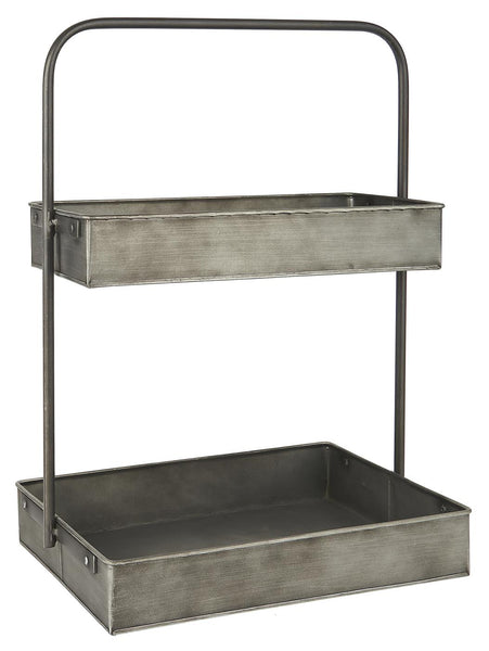 Metal 2 Tier Storage Shelf