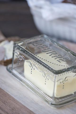 Glass Butter Box