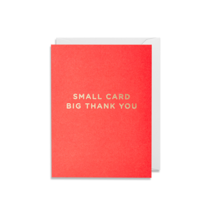 Mini Card - Small Card Big Thankyou