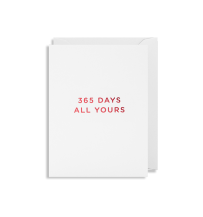 MINI Card - 365 Days All Yours