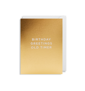 MINI Card - Birthday Greetings Old Timer