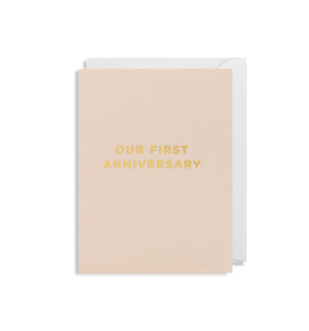 MINI Card - Our First Anniversary