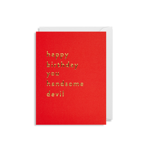 Mini Card - Happy Birthday Handsome Devil