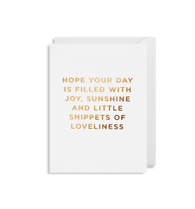 Mini Card - Hope Your Day Is Filled With Joy