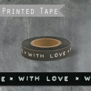 East of India - With Love Black Printed Tape