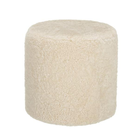 Shepherd of Sweden 100% Sheepskin 'Frida' Pouffe in Cream WAS £320 NOW £260