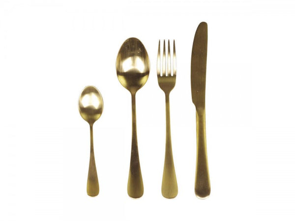 Nordic Cutlery Set of 4 - Gold