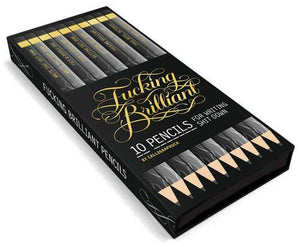 F*cking Brilliant Pencils - Box of 10