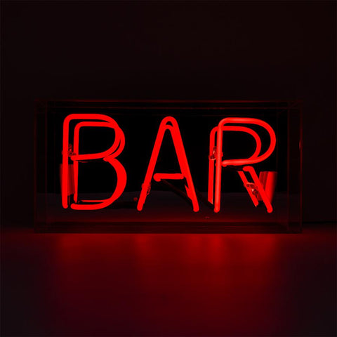 BAR - Neon Acrylic Box