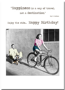 Card Betty Loves:  Happiness Is Not A Destination