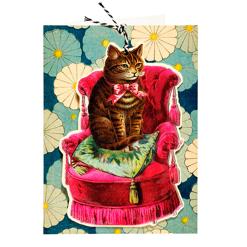 Madame Treacle Fandangle Card - Cat on A Chair