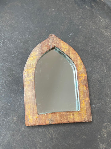 Vintage Indian Reclaimed Wood Mirror - Small