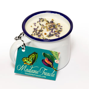 Willow House Enamel Cup French Lavender Scented Candle