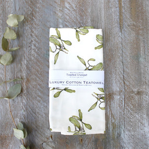 Toasted Crumpet Mistletoe Tea Towel