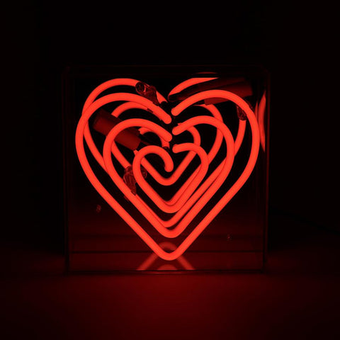 Heart - Mini Neon Acrylic Box