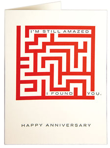 Letterpress Card - Amazed Anniversary