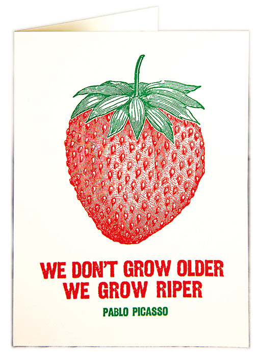 Letterpress Card - Strawberry Fruit