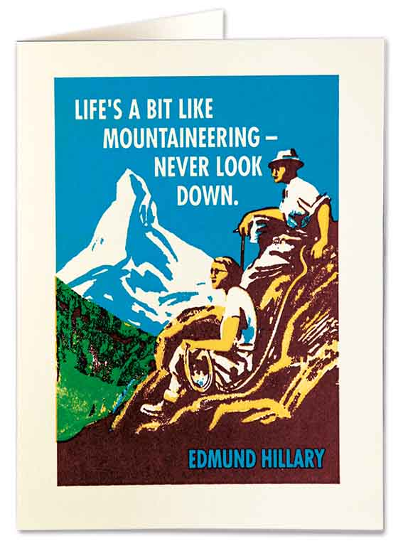 Letterpress Card - Mountaineering