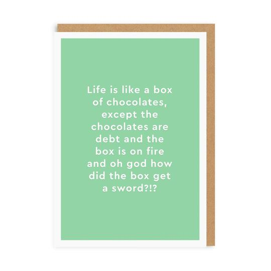 Card - Box Of Chocolates