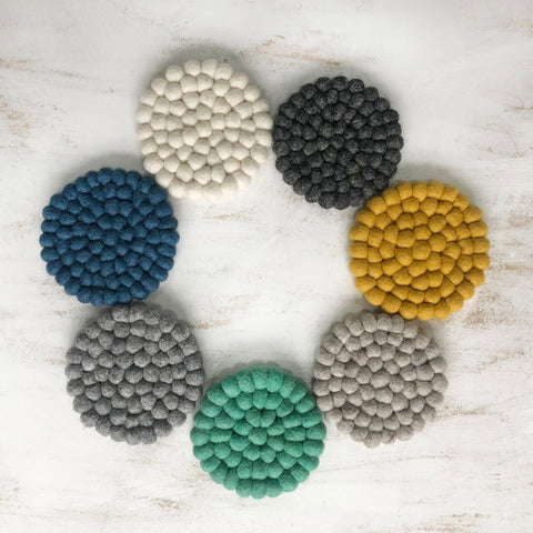Handmade Eco Felt Ball Coaster