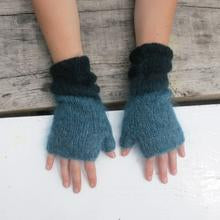 Dip dye Ethical Mohair Fingerless Wrist Warmer WAS £26 NOW £18