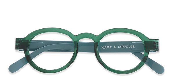 Reading Glasses - Circle Twist Green & L Blue
