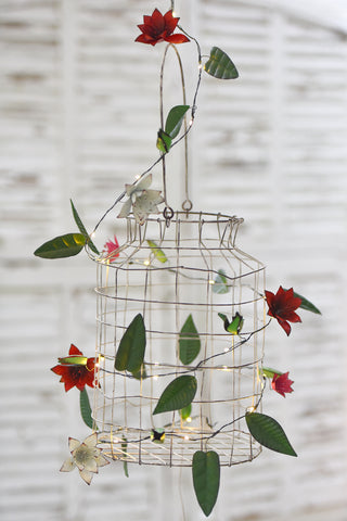 Metal Clematis 20 LED String Light