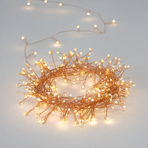 Copper Cluster Light Chain - Battery 3m