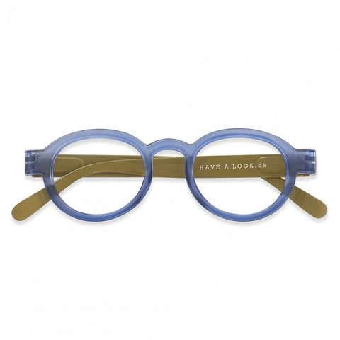 Reading Glasses - Circle Twist Blue & Lime