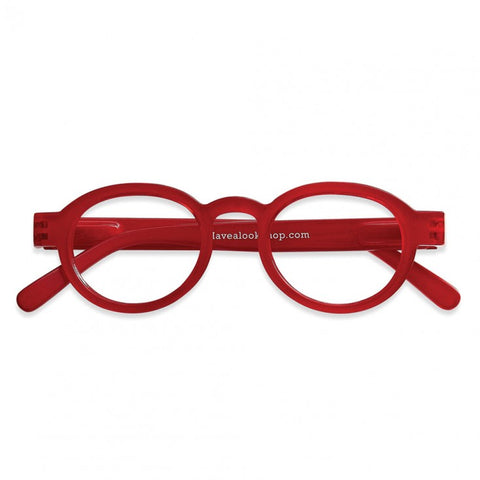 Reading Glasses - Circle Twist Red