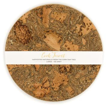 Ice Grey Cork Round Trivet