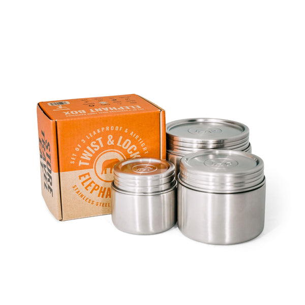 Twist & Lock Food Canister Trio - Leakproof