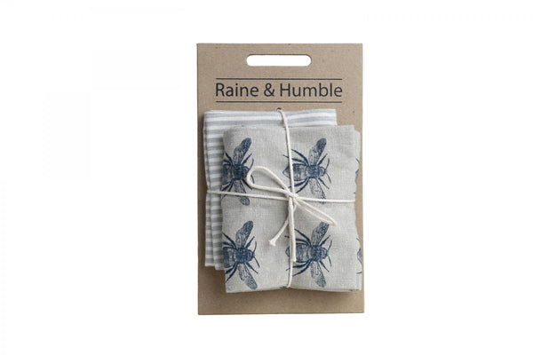 Raine & Humble Honey Bee Tea Towel - Pack of 2