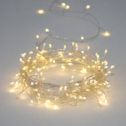 Silver Cluster Light Chain - Battery 3m