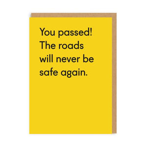 Card - The Roads Will Never Be Safe Again