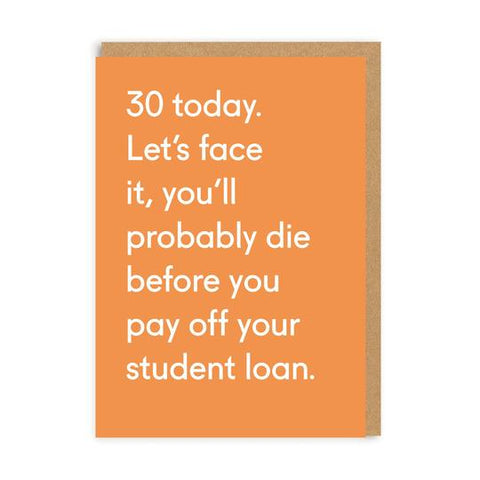 Card - 30 Today Student Loan
