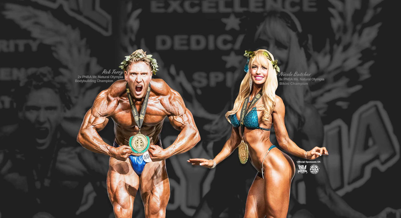 best natural bodybuilders rob terry nicole butcher bikini