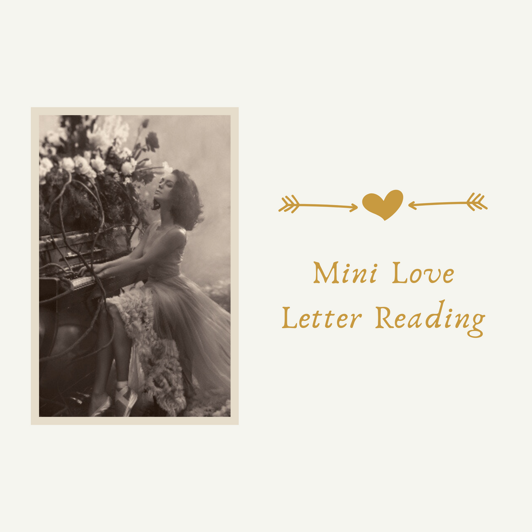 Mini Love Letter Reading - Twin Flame & Soulmate - Ex-Lover - Lost Love