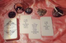 Load image into Gallery viewer, Unspoken Words Oracle Deck - Messages from Your Divine Counterpart - Soul Connections - Twin Flames - Soulmates - Karmic