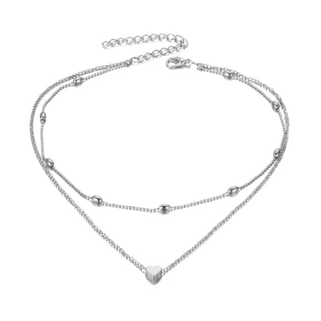 Multilayered Heart Necklace