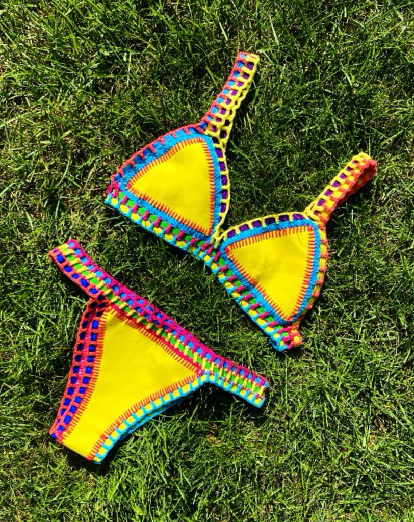 Sunrise Reversible Knitted Bikini Set