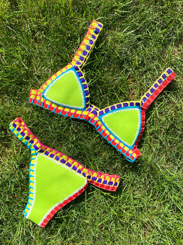 Sour Patch Reversible Knitted Bikini Set