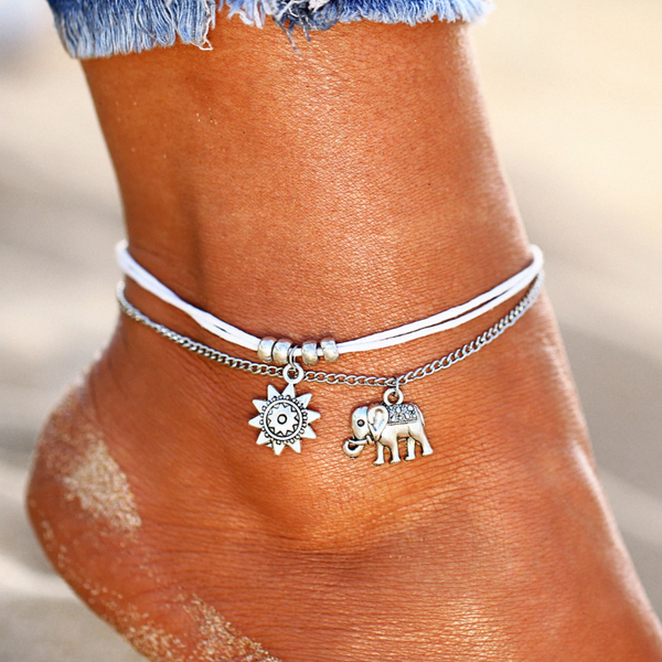Elephant Anklet Set