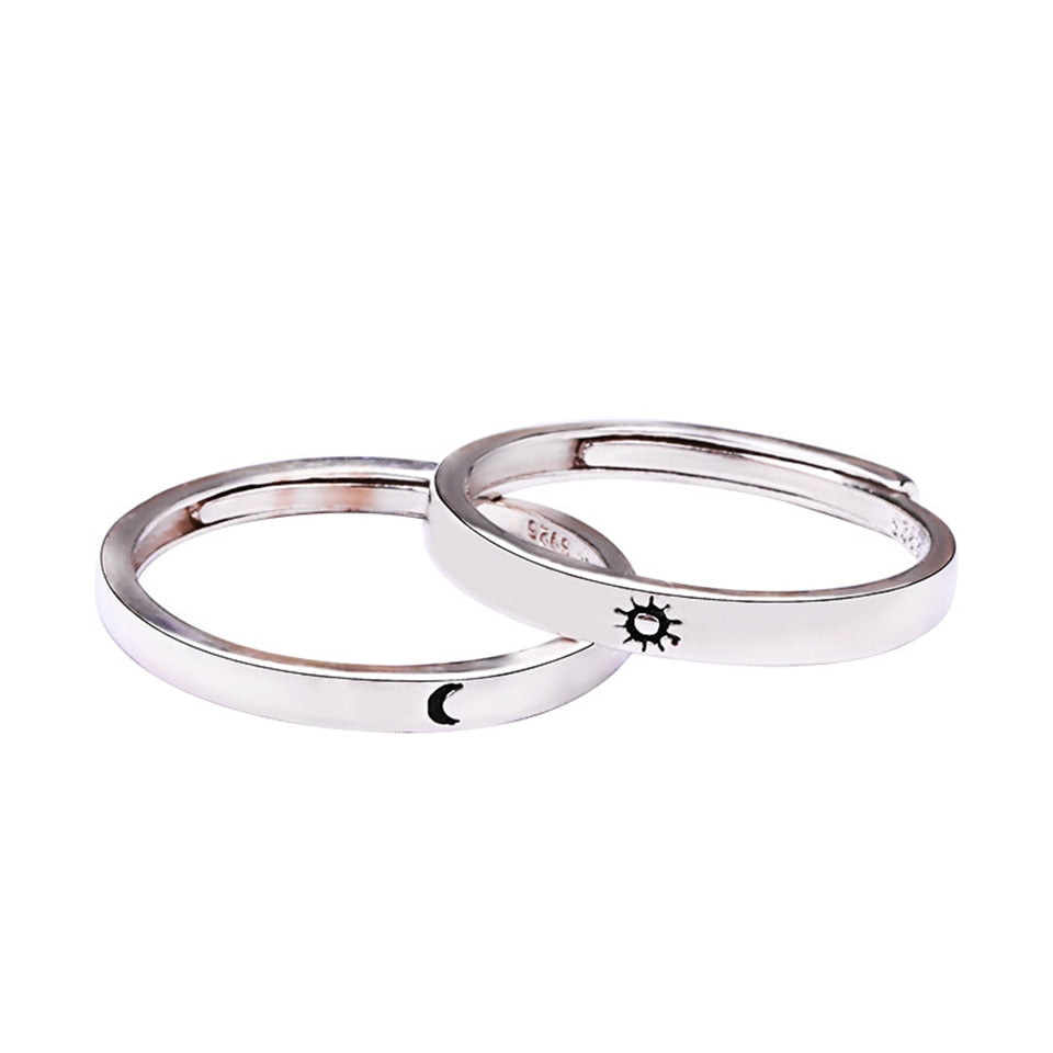 Sun Moon Adjustable Ring