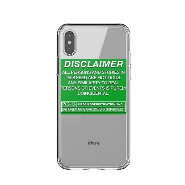 Disclaimer iPhone Case